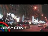 Christmas lights switched on in Ayala Ave.