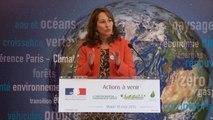 Ségolène Royal présente les actions à venir du ministère de l'Écologie, du Développement durable et de l'Énergie