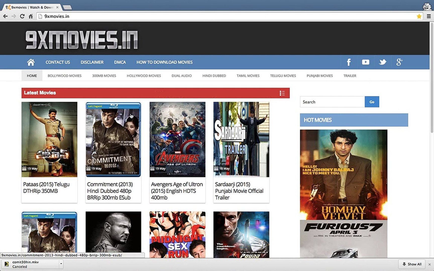 How to Download HD Movies, Hindi Dubbed, Dual Audio Movies from 9xmovies.in