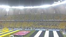 لحظه دخول اللاعبين النصر انبهار المعلق ( عامر عبدالله )  بالحضور جماهير الشمس