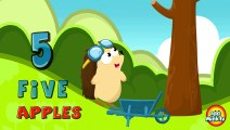 Number Counting Apples Kids Learn To Count With Hedgehog Education Cartoon Children Animation ABC Alphabet