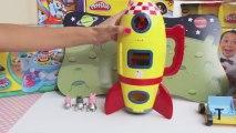 Peppa Pig Spaceship Rocket Playset Toy English Review Play doh Toys Kinder surprise ABC Alphabet Cartoon Games Dora HAzel Frozen