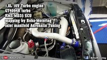VW Rallye Golf 2 AWD 1,8L 16V Turbo 803HP GT4094R Turbo dyno test