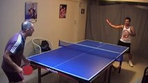 table tennis rally serve HD spin art forehand dhs long pimples tennis de table