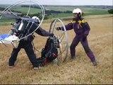 Paramotor flying 2000ft around Lambourn PPG