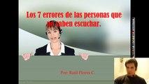 """Los 7 Errores de las Personas que no Saben Escuchar - """"errores  en la comunicacion"""""""