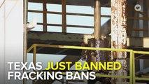 Texas Governor Bans Fracking Ban