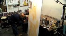 Steve Nunez paints Model, Brenda Lynn Acevedo on Canvas with Acrylic Paint
