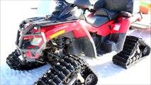 Tracked All terrain vehicles (ATV quad bikes) Camoplast Tatou 4S - winter snow mountain