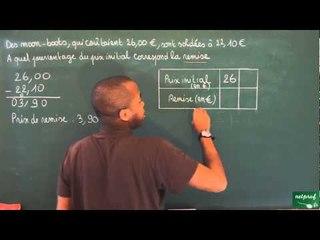394 / Proportionnalité / Calcul de pourcentage (4)