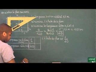 401 / Proportionnalité / Déterminer une échelle (2)