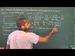 402 / Proportionnalité / Déterminer une échelle (3)