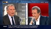 François Bayrou, invité de Bourdin Direct sur RMC-BFMTV - 070515