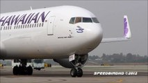 Hawaiian Airlines Boeing 767-33A(ER)(W/L) [N589HA] Pushback, Taxi, and Takeoff