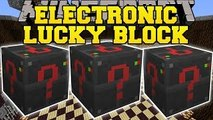 Minecraft- ELECTRONIC LUCKY BLOCK MOD (LUCKY DUNGEONS, LUCKY MACHINES, & MORE!) Mod Showcase