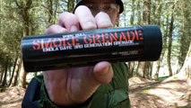 Airsoft Smoke Grenade - Red Wire Pull Smoke Grenade