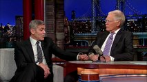 Le selfie et les confessions de George Clooney à David Letterman