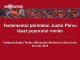 TESTAMENTUL Parintelui Iustin - IPS TEOFAN la inmormantarea duhovnicului de la Petru-Voda (fragment)