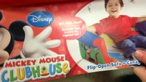 MICKEY MOUSE CLUB HOUSE Mini Couch with Mickey Mouse, Minnie Mouse, Goofy + Pluto DISNEY J