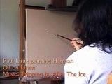 High speed painting oil on linen - Paul painting Hamzah
