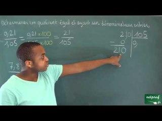 142 / Nombres en écriture fractionnaire / Division de deux nombres déciamux (3)