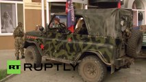 Ukraine: Donetsk People's Republic soldiers arrive in Donetsk