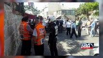 Scène de l'attentat à la voiture-bélier à Jérusalem