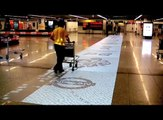 NIssan Interactive Floor Projection at Lisbon Airport