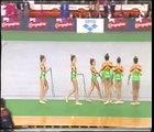 Gimnasia Ritmica Pozuelo Infantil. 6 cuerdas. Campeonato de España Sevilla 1997.