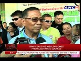 Binay denies premature campaigning in Davao del Norte