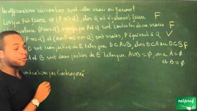 0009 / Ensembles, applications - Dénombrement / Reconnaître des affirmations vraies (2) (BCPST)