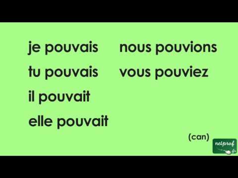 Conjugaison Du Verbe Pouvoir A L Imparfait De L Indicatif Video Dailymotion