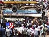 RTC bus slips in to Godavari near Bhadrachalam,one woman dies