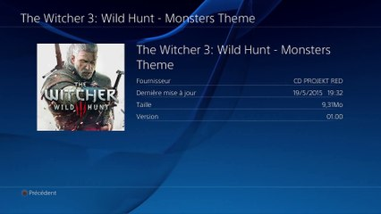 Thème ps store US de The Witcher 3 : Wild Hunt