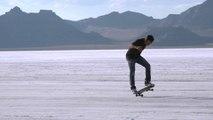 Kilian Martin Skateboarding in a Salt Desert! Filmed by Brett Novak