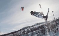 Skiing & football | Incredible freestyle sport