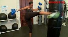 Michelle Obama en pleine séance de gym contre l'obésité