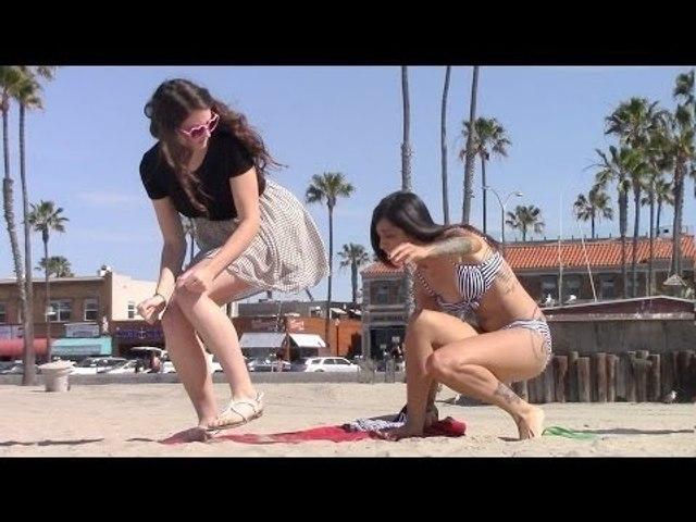 Girl Peeing on Girls PRANK 2015 - Funny Videos
