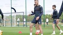 Séance d'entraînement avec Nabil Bentaleb