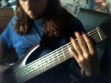 Tetris two handed tapping on bass