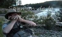 Remise à l'eau 2009, pêche au saumon, Rivière à Mars