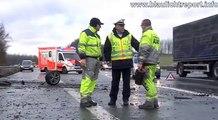 30.12.2012: Porsche Carrera 4s bei Unfall total zerstört