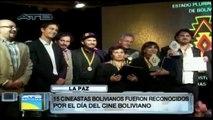 Cineastas bolivianos fueron reconocidos por el Día del cine boliviano