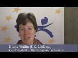 Diana Wallis after election as Vice-President of the EP