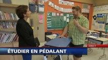 Une école instaure des pupitres-vélos pour les enfants hyperactifs
