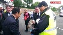 Carhaix. Un vice-gouverneur chinois visite la future usine de lait