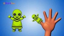 Finger Family Alien - Daddy Finger Nursery Rhymes - Alien Cartoon Animation Songs ABC Alphabet Cartoon Games