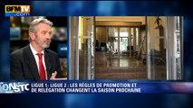 """Deux relégables en Ligue 1: Frédéric Thiriez pense que """"les équipes joueront plus libérées"""""""
