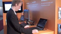 Tobii introducing the new eye controlled Lenovo laptop at CeBit
