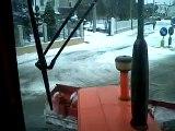 Trattore Same 120 CV con Pala da Neve! Pulizia Strade Comunali Dopo Nevicata del 01/02/2012